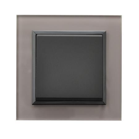 Łącznik jednobiegunowy ŁP-1RS/33 ramka z szarego szkła seria Sonata OSPEL