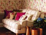 Fotele tapicerowane w tkaninie i skórze LAURA ASHLEY - zdjęcie 3
