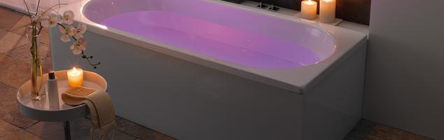 Aranżacja łazienki w Walentynki. Wanny KALDEWEI