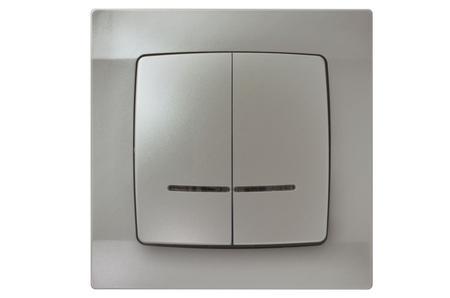Łącznik dwugrupowy, świecznikowy z podświetleniem seria Karo OSPEL