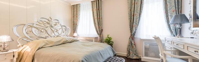 Pomysł na sypialnię - styl glamour